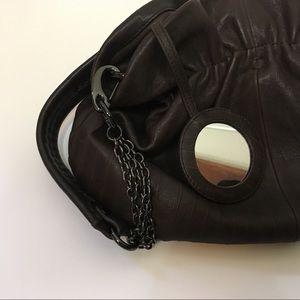 David & Scotti Bags - David & Scotti Brown Leather Gathered Bag OS